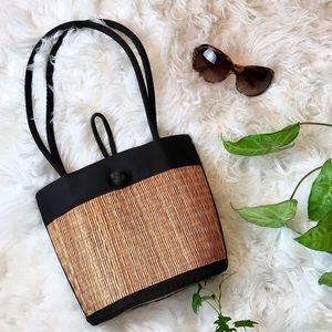 Handbags - Casual chick tote straw hand shoulder bag purse